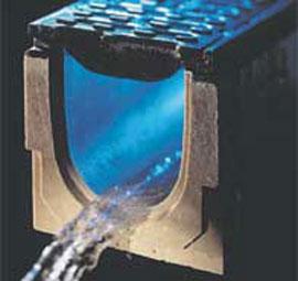 Líniový odvodňovací systém - odvodnenie